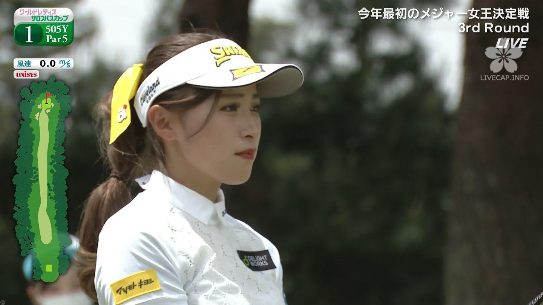 【臼井麗香】ひらひらなスカートとまつ毛が印象的な美形ゴルファー