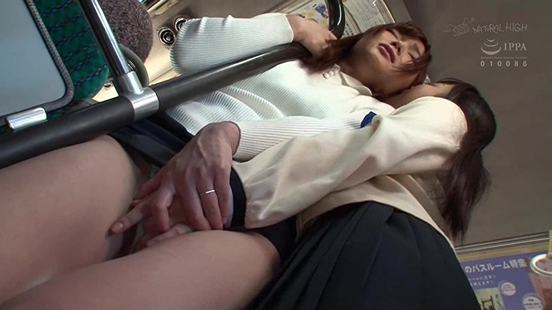 【痴漢】JKがオトナの女を痴漢する 痴●'M'覚醒 レズVer.2